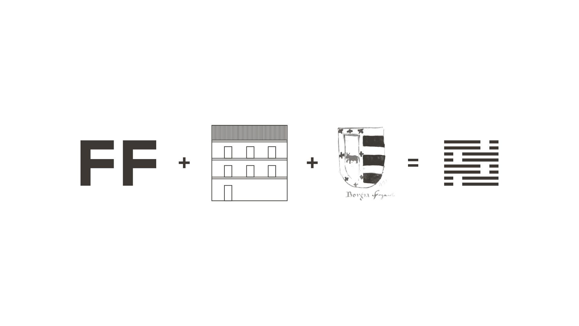 Sundog Studio - Foresteria de' Fiori - Logo Construction