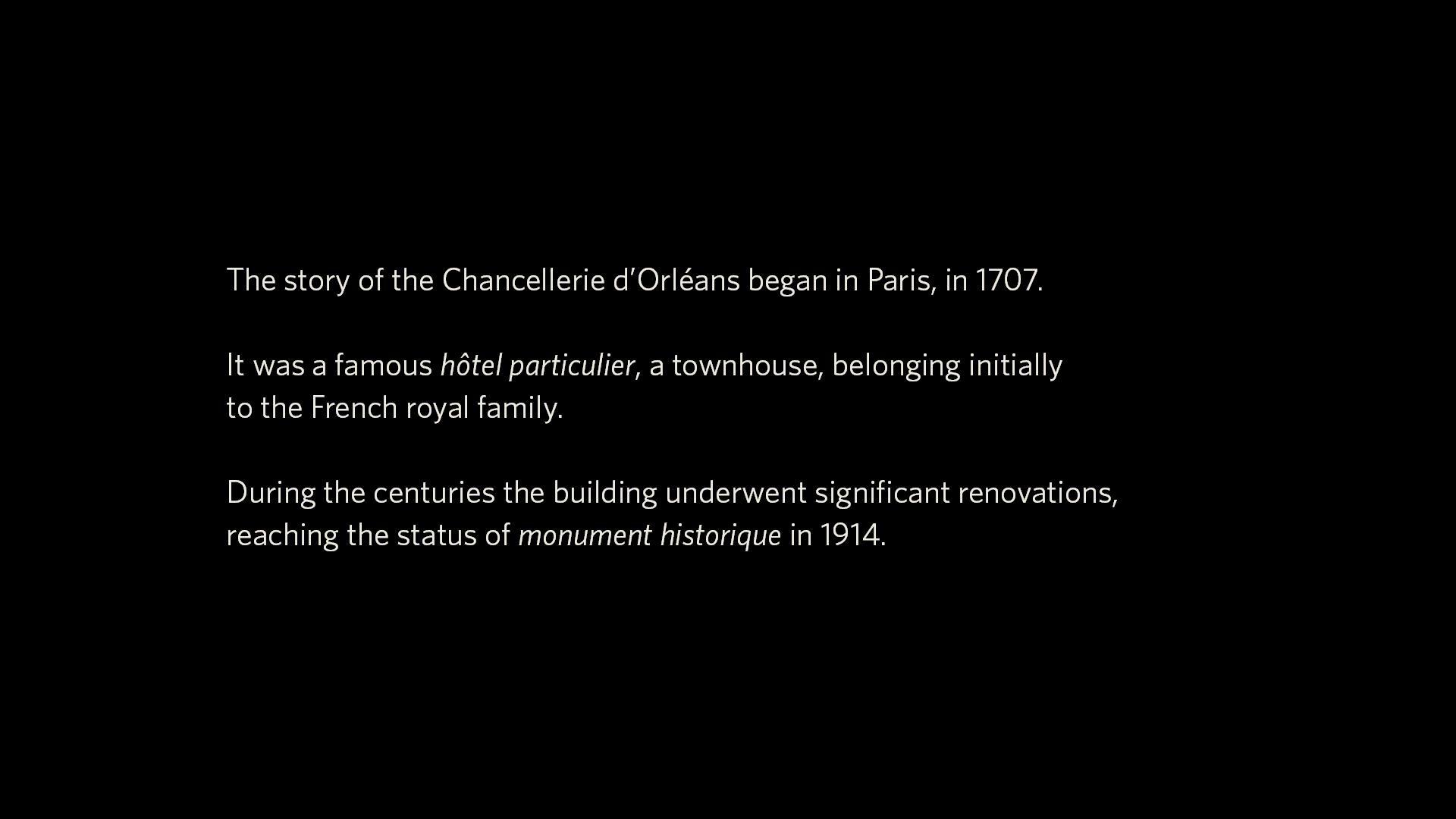 La Chancellerie d'Orléans